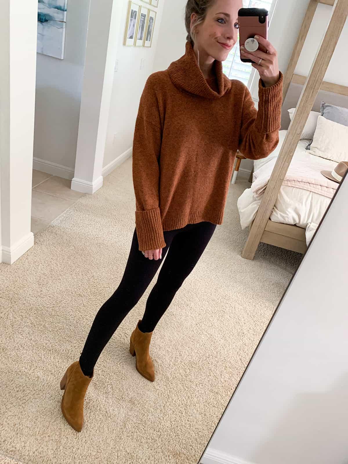 Katies Bliss Treasure & Bond Drape Turtleneck Sweater