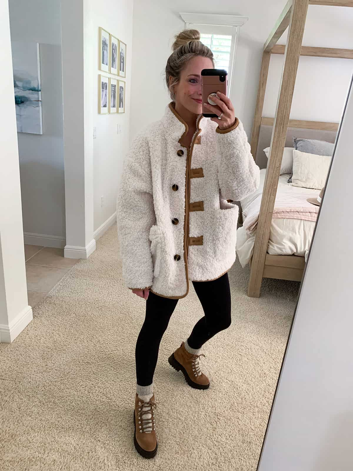 Katies Bliss Treasure & Bond Faux Fur Jacket