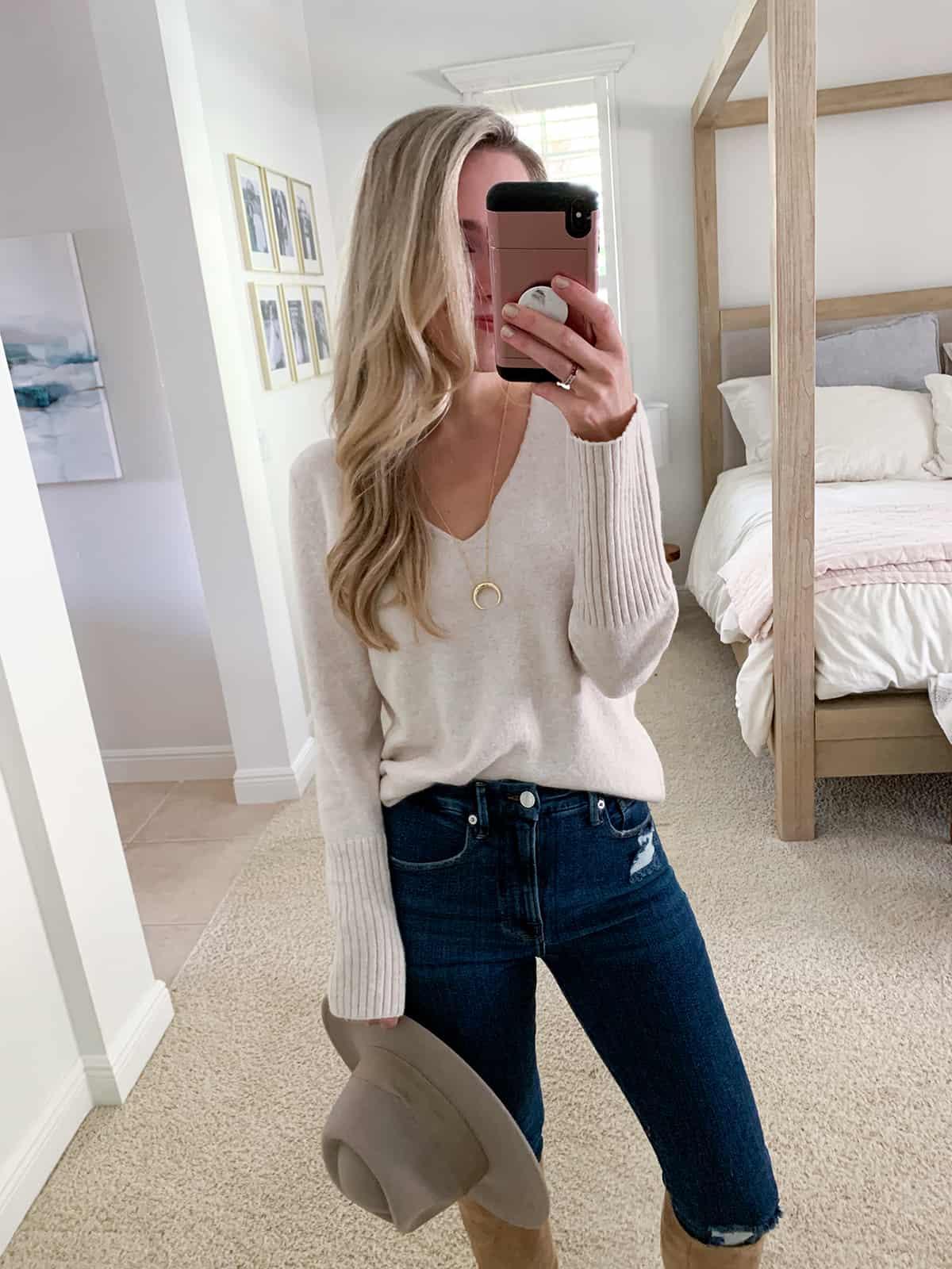Katies Bliss Treasure & Bond V-Neck Sweater