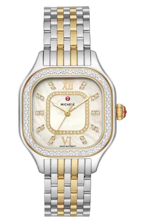 Michele Meggie Diamond Dial Watch Head & Bracelet