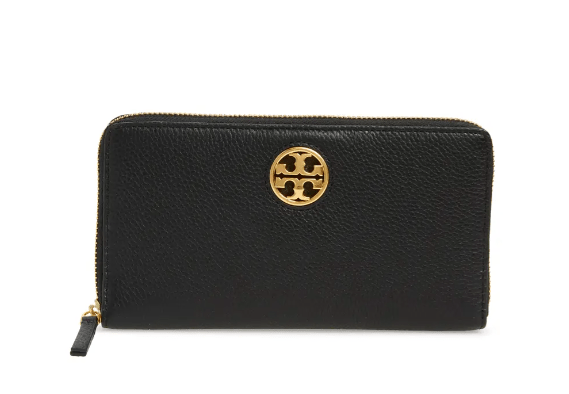 Tory Burch Carson Zip Leather Continental Wallet