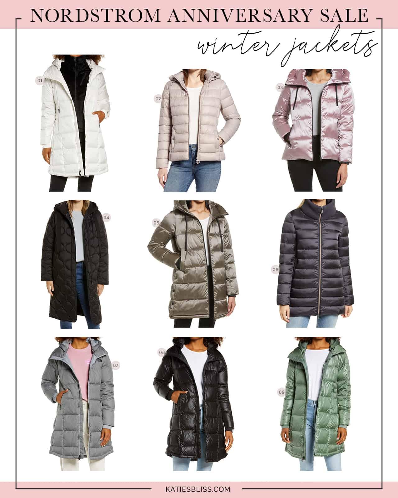 nordstrom anniversary sale winter jackets