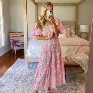 Lilly Pulitzer Katalina Midi Eyelet Dress